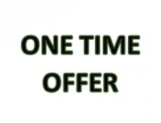 One time offer - specials